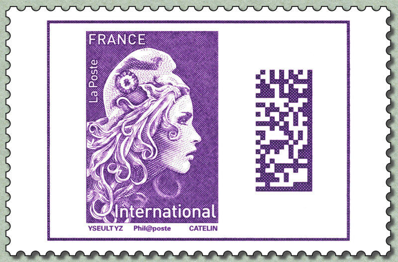 France - Marianne Definitive, International Rate (January 1, 2019)